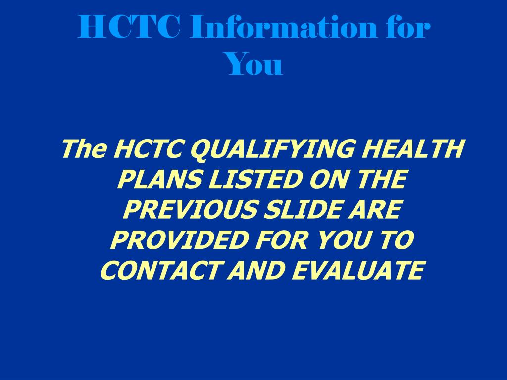 HCTC Information for You