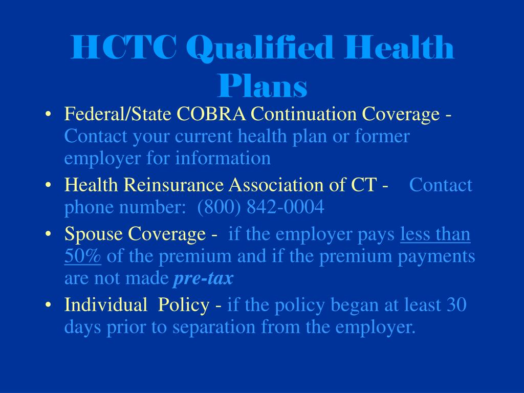 HCTC Qualified Health Plans