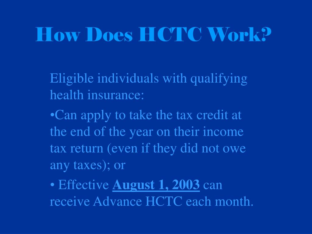How Does HCTC Work?