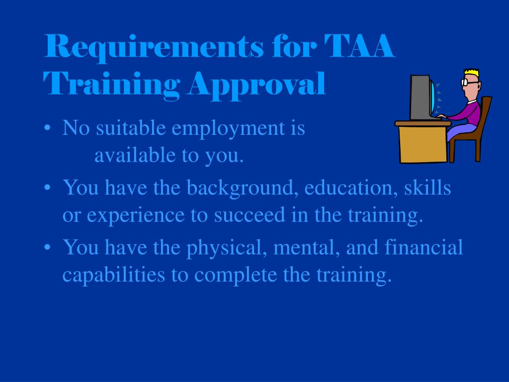 Requirements for TAA Training Approval