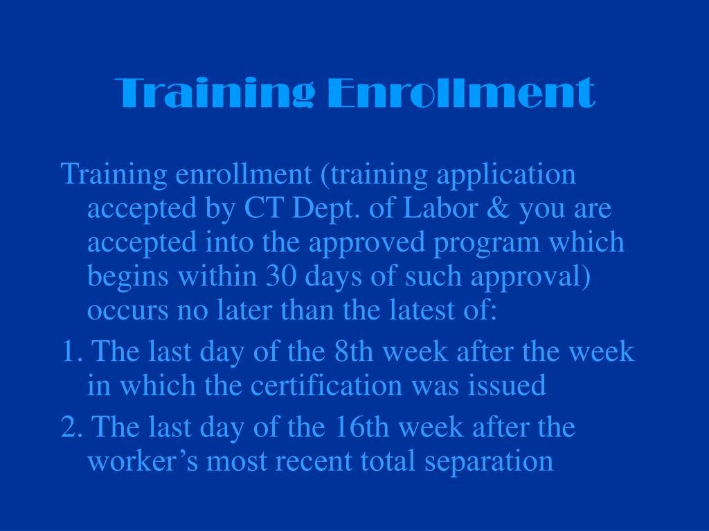 Training Enrollment