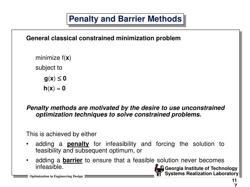penalty and barrier methods l.