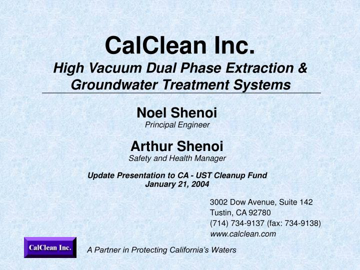 calclean inc high vacuum dual phase extraction groundwater treatment systems n.