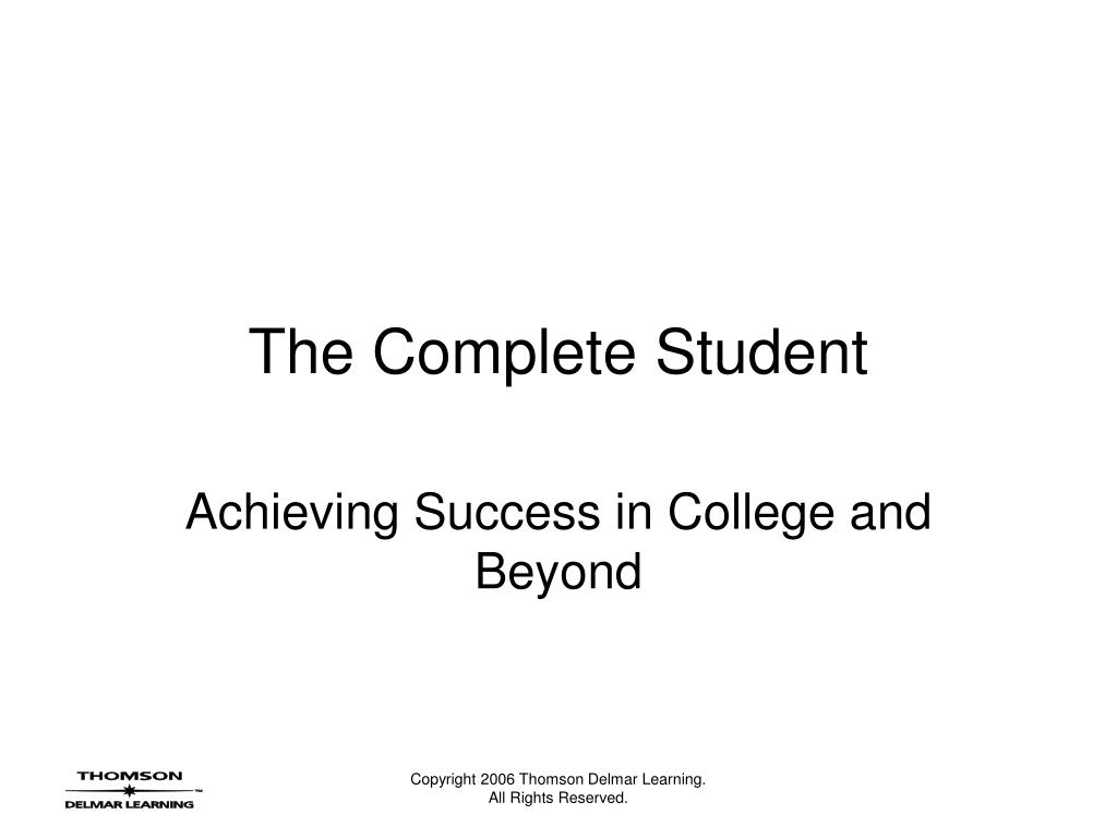 the complete student l.