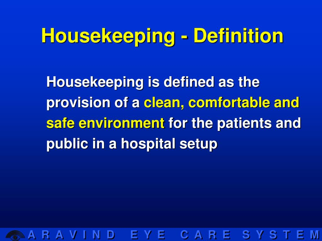 Housekeeping - Definition