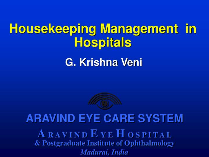 pest analysis for aravind eye hospital