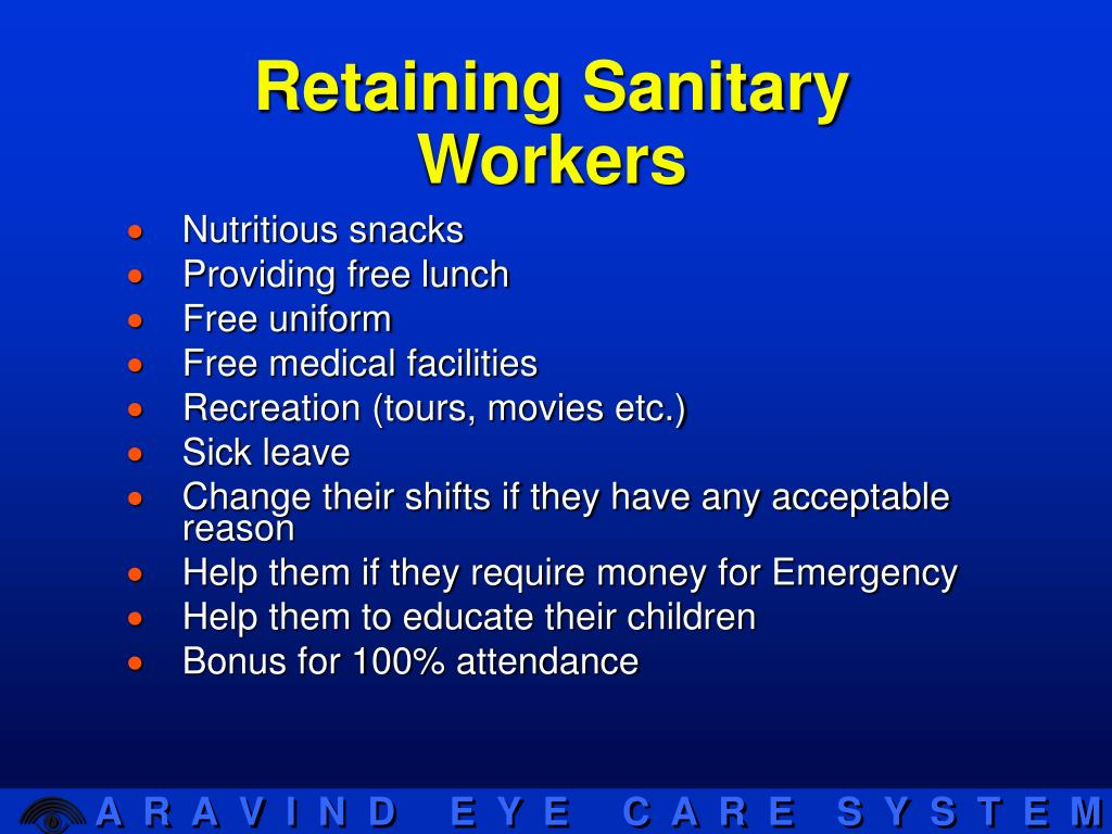Retaining Sanitary Workers