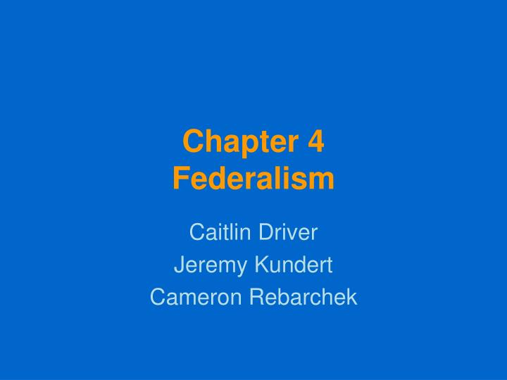 chapter 4 federalism n.