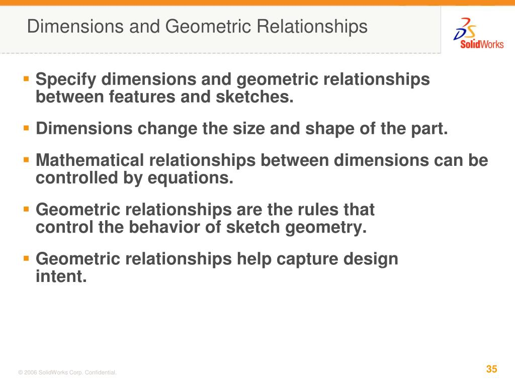 Dimensions and Geometric Relationships