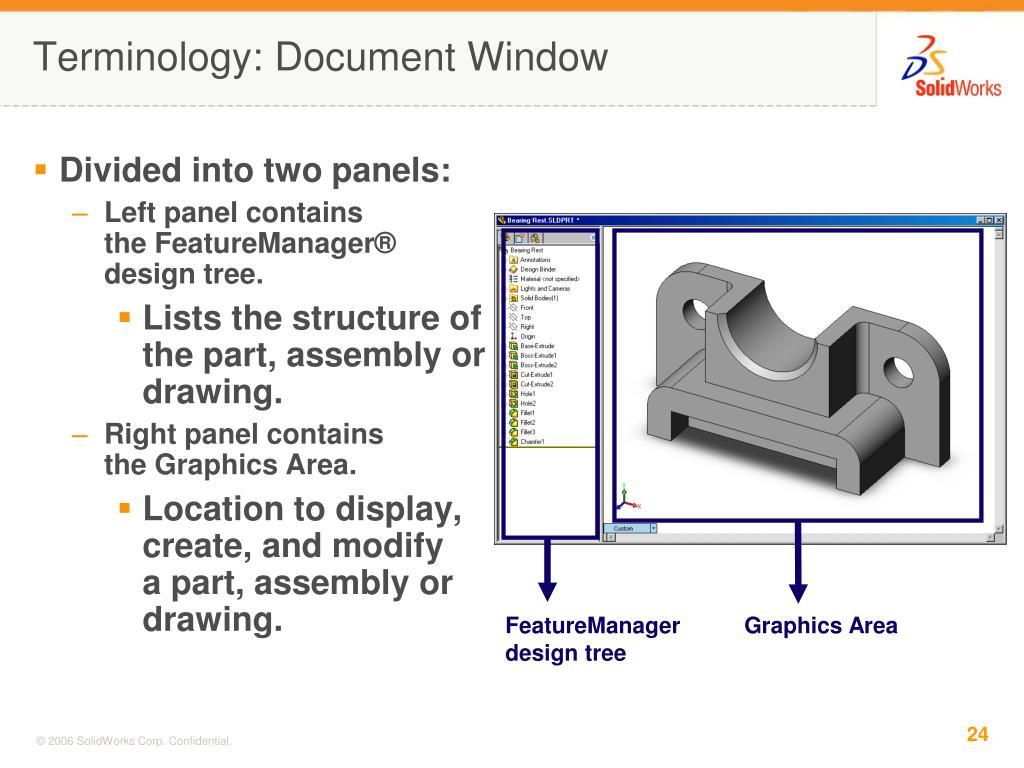 FeatureManager design tree