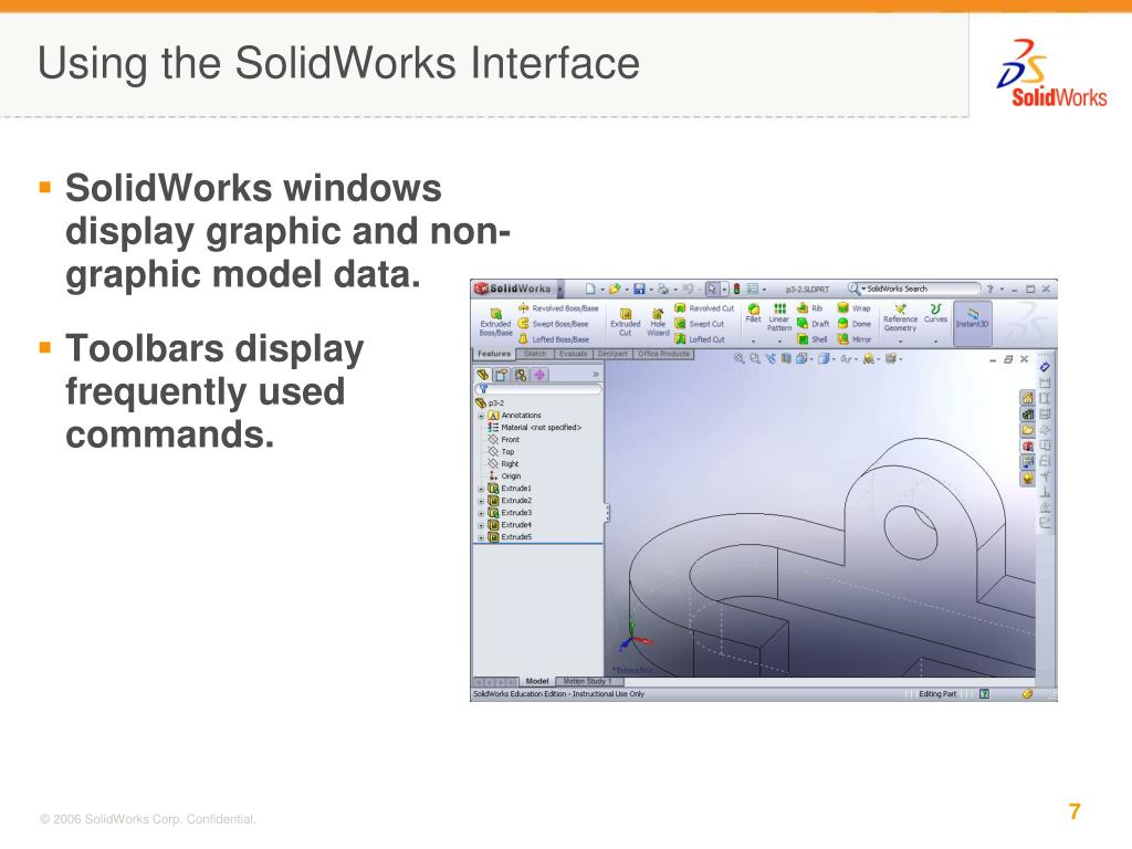 Using the SolidWorks Interface