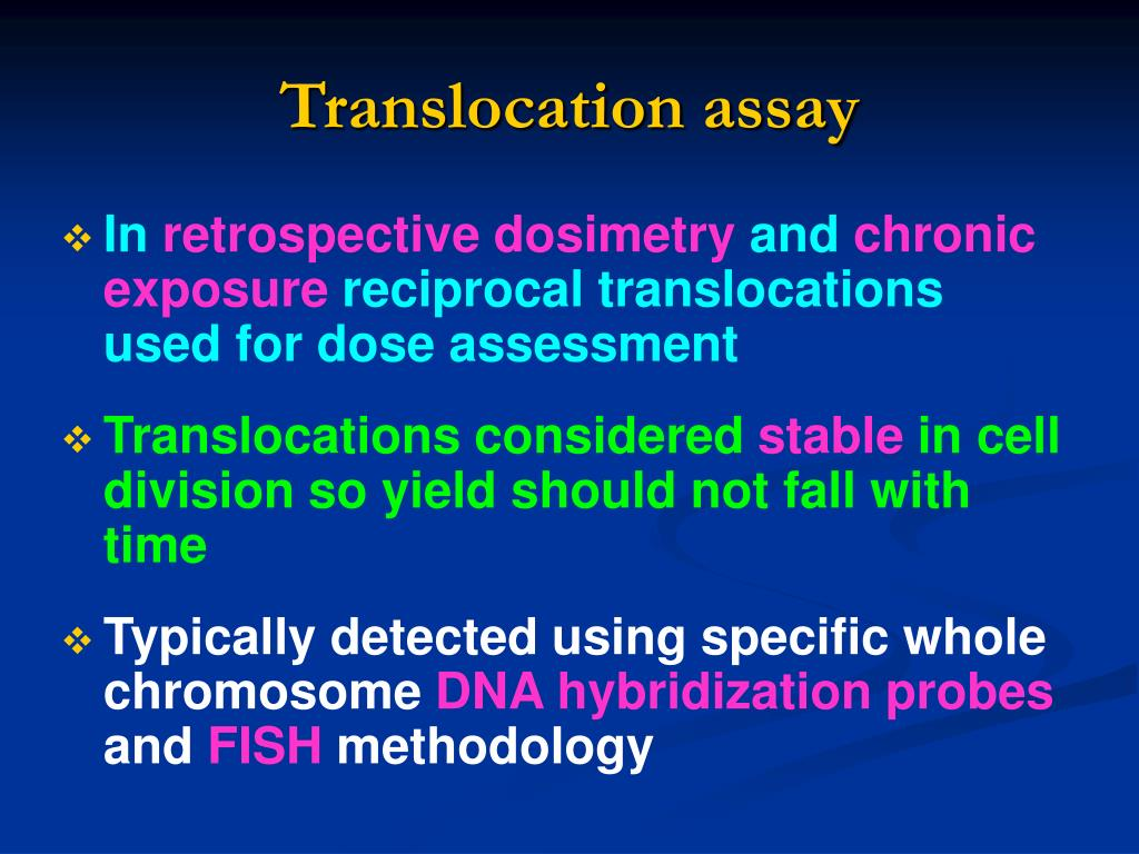 Translocation assay