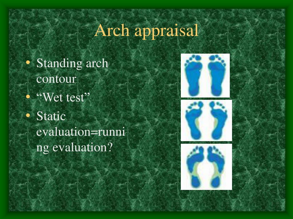Arch appraisal