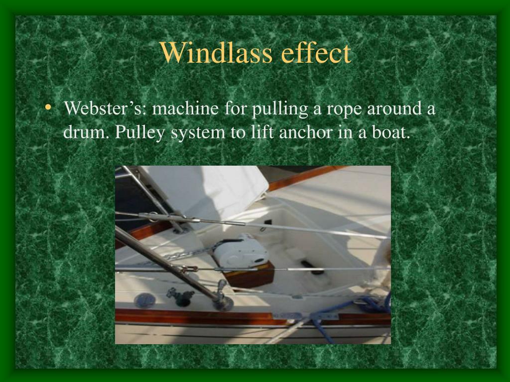 Windlass effect