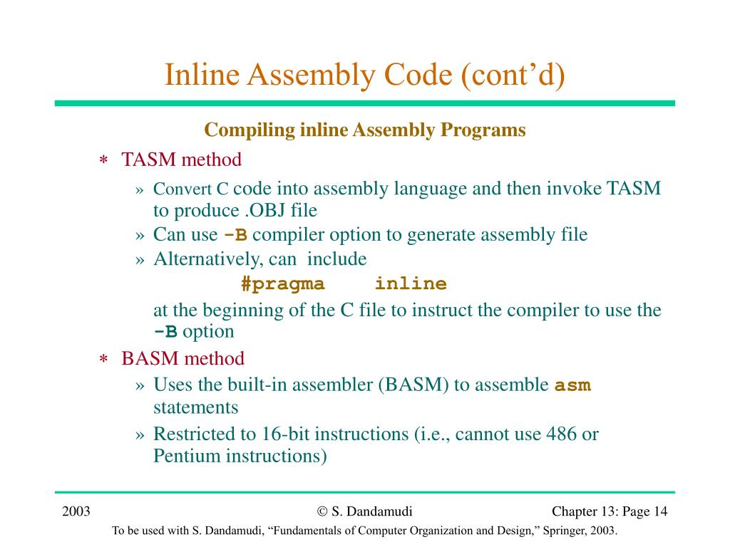 Assembly language programming using tasm
