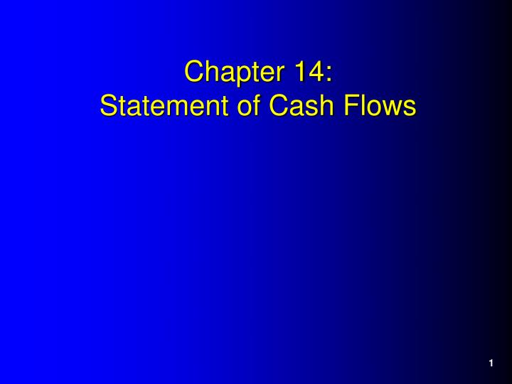 chapter 14 statement of cash flows n.