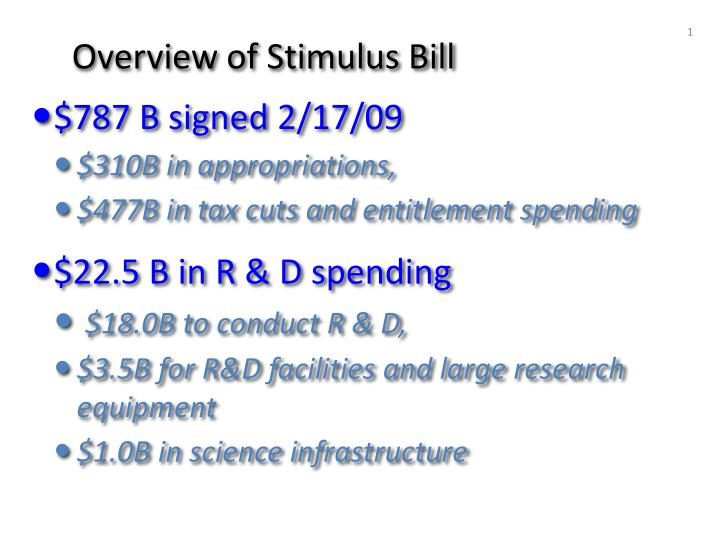 Overview of Stimulus Bill