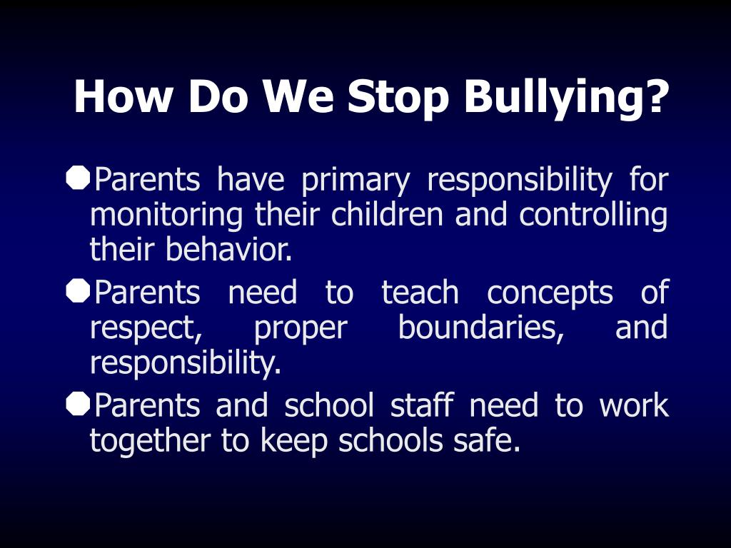 How Do We Stop Bullying?