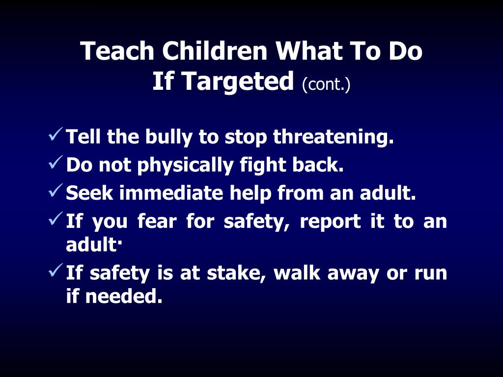 Teach Children What To Do