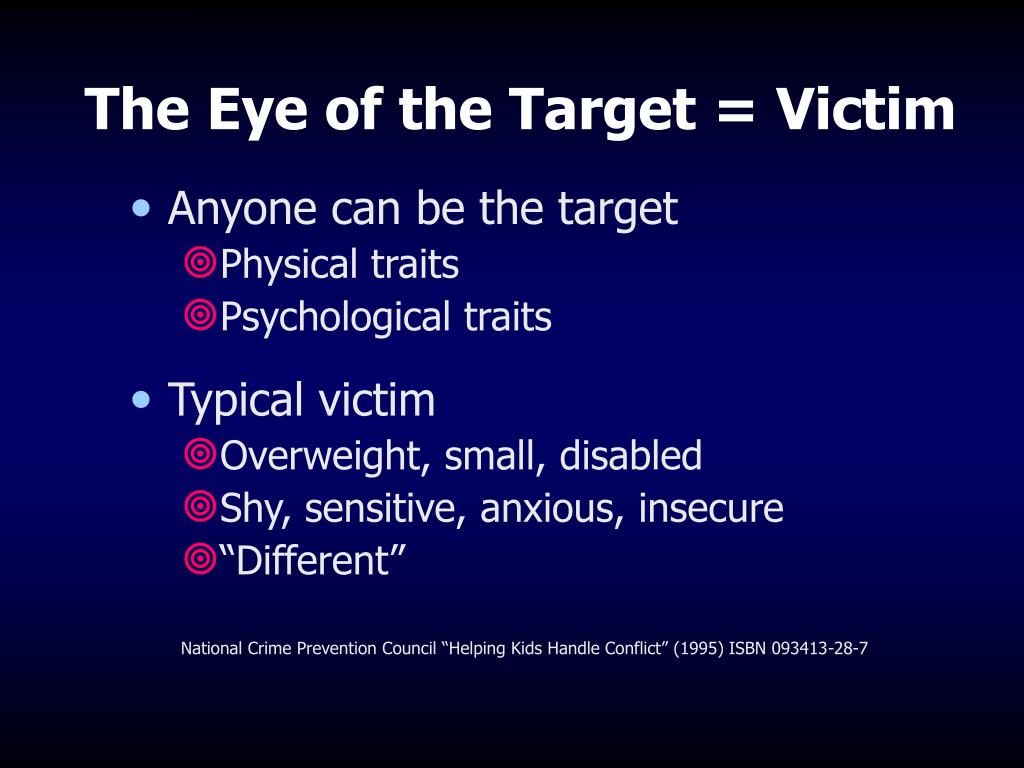 The Eye of the Target = Victim