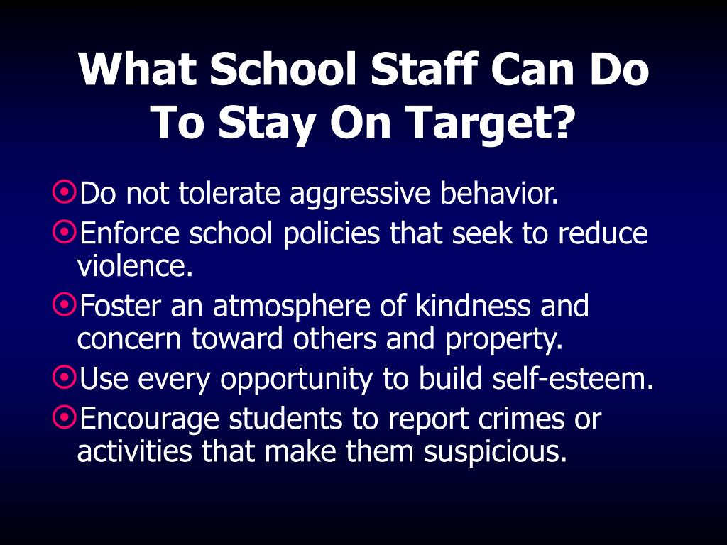 What School Staff Can Do To Stay On Target?