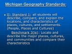michigan geography standards