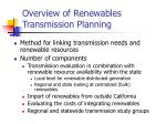overview of renewables transmission planning