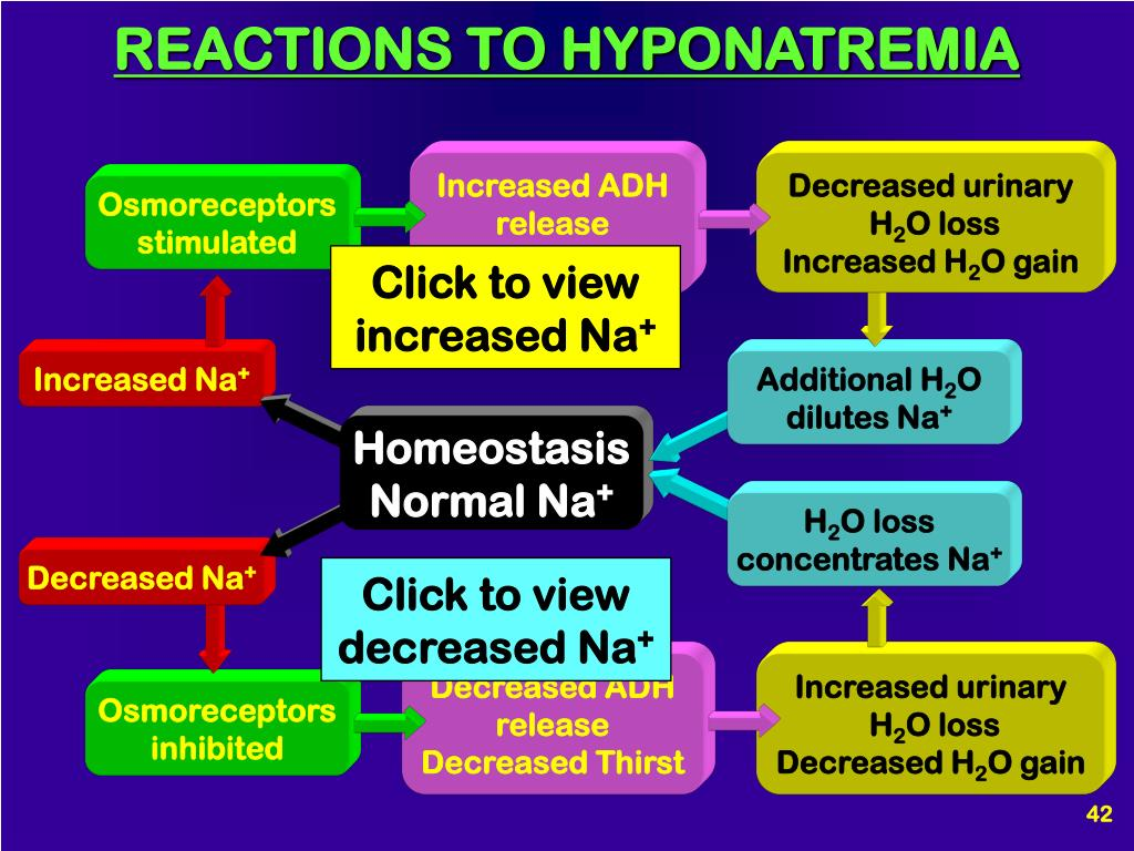 REACTIONS TO HYPONATREMIA