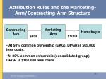 attribution rules and the marketing arm contracting arm structure33