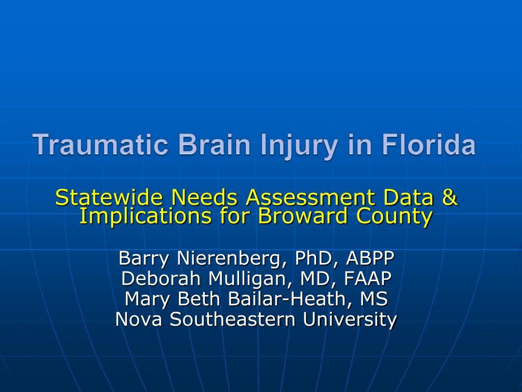 traumatic brain injury in florida l.