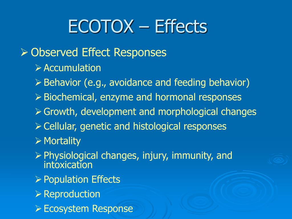 ECOTOX – Effects