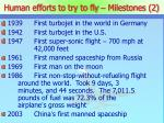 human efforts to try to fly milestones 2