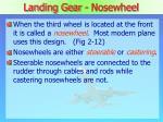 landing gear nosewheel