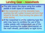 landing gear nosewheels