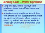 landing gear water operation