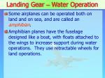 landing gear water operation1