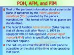 poh afm and pim