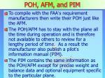 poh afm and pim1