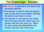 the empennage elevator
