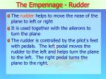 the empennage rudder