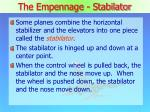 the empennage stabilator