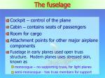 the fuselage