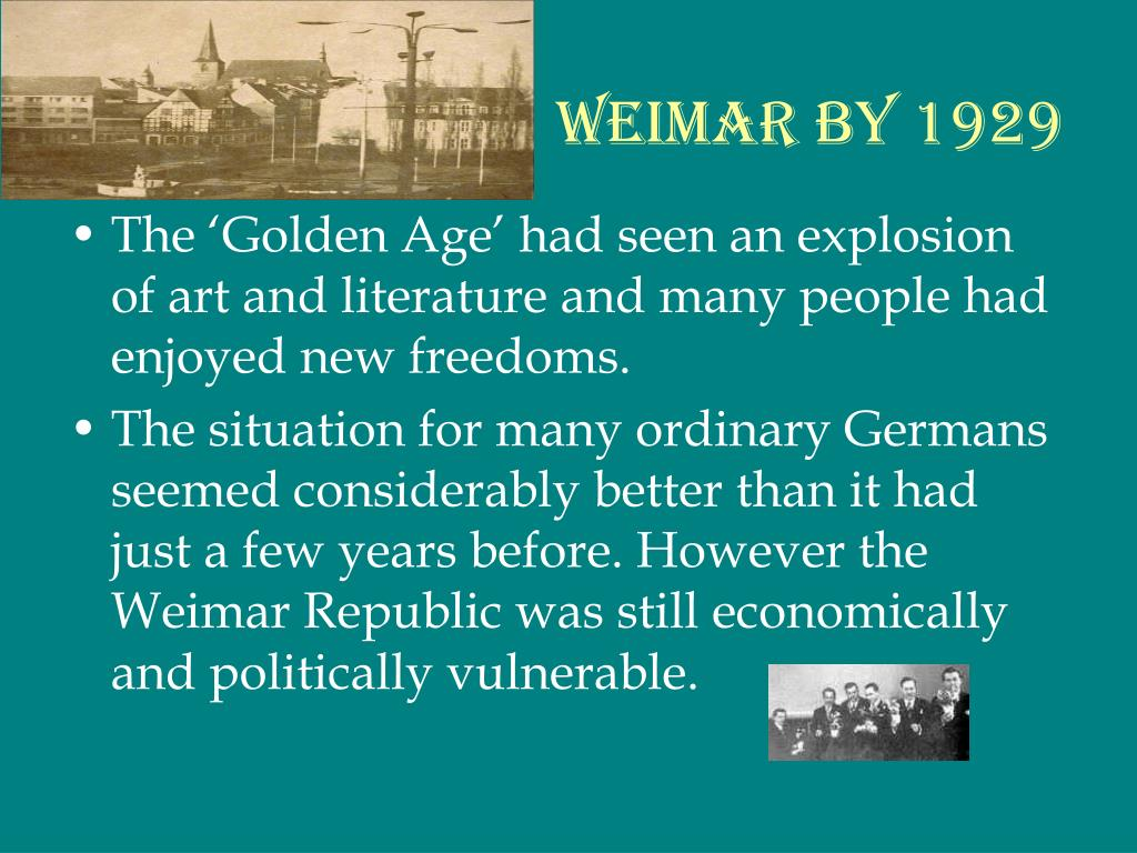 Weimar by 1929
