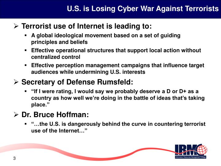 U s is losing cyber war against terrorists