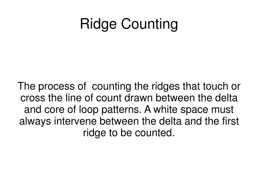 ridge counting l.