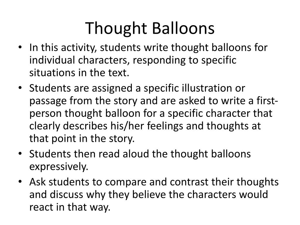 Thought Balloons