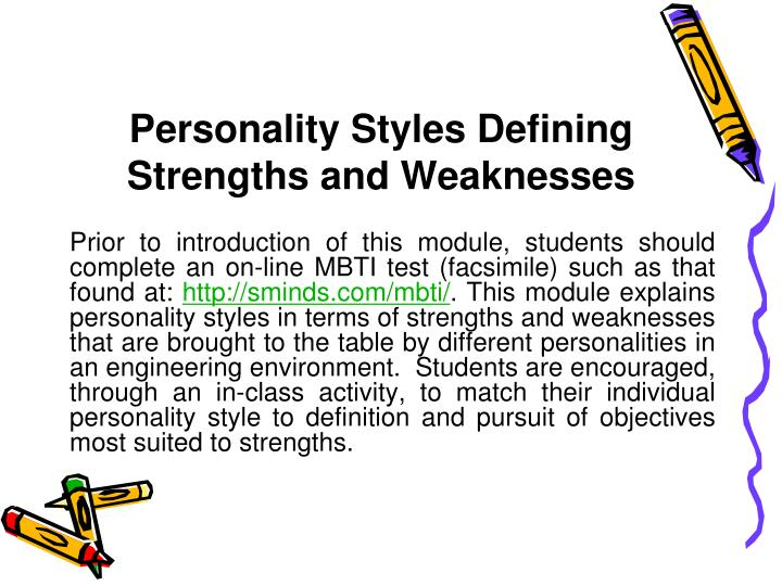 my own personal strengths and weaknesses Knowing your own strengths and weaknesses assessing your own strengths, weaknesses so how do you go about assessing your personal strengths, weaknesses and.