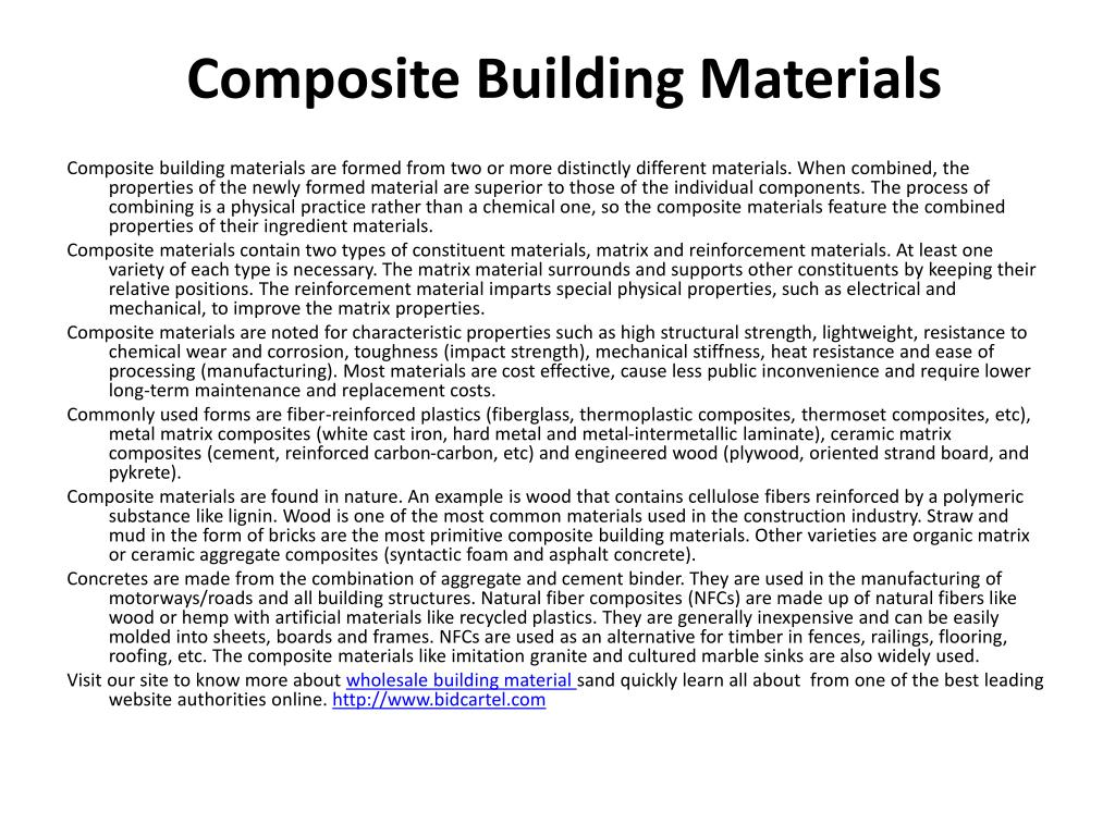 composite building materials l.