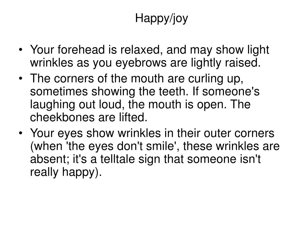 Happy/joy