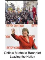 chile s michelle bachelet leading the nation